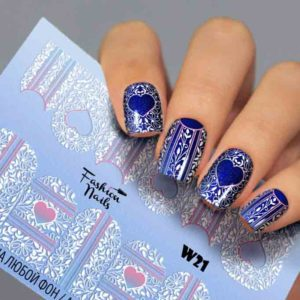 Fashion Nails, Слайдер дизайн White-21
