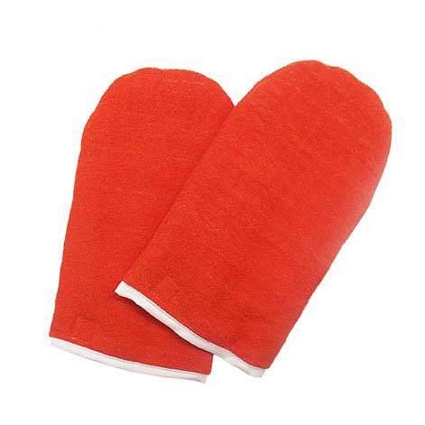 JessNail, Варежки для парафинотерапии махровые (1 пара), оранжевые
