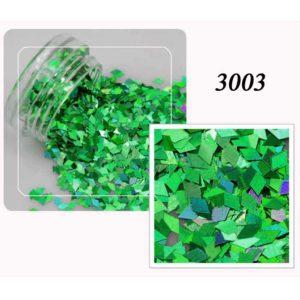 Блестки «Ромбики» №3003, зеленый лазер