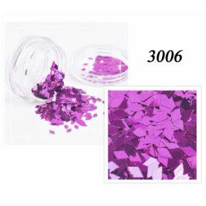 Блестки «Ромбики» №3006, пурпурный