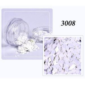 Блестки «Ромбики» №3008, белый
