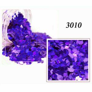 Блестки «Ромбики» №3010, синий лазер