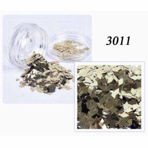 Блестки «Ромбики» №3011, серебро с позолотой