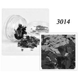 Блестки «Ромбики» №3014, черный