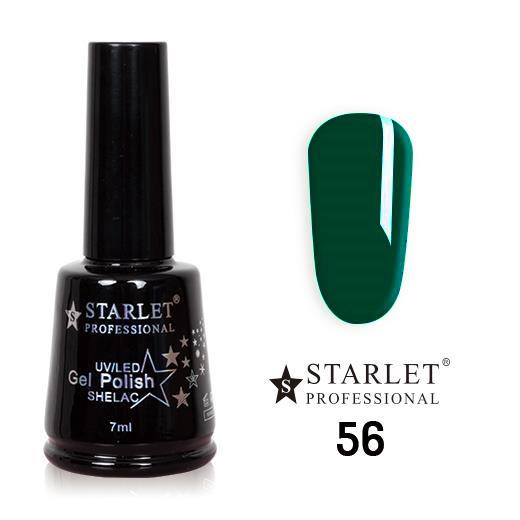 Starlet, Гель-лак №056 «Изумруд» полупрозрачный, 7мл