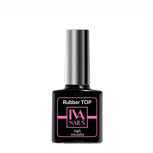 IVA Nails, Rubber Top High Viscosity Топ с липким слоем, 8мл
