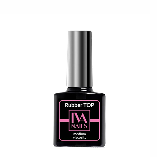 IVA Nails, Rubber Top Medium Viscosity Топ с липким слоем, 8мл