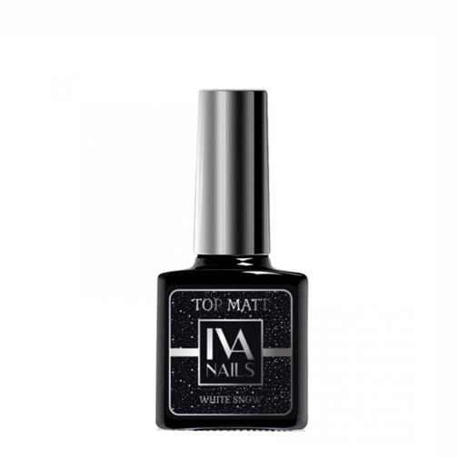 IVA Nails, Top Matte WHITE SNOW Матовый топ «Белый снег», 8мл