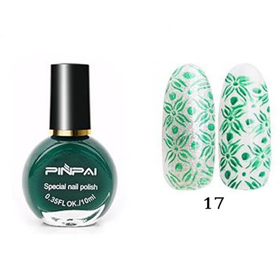 PinPai, Лак для стемпинга №17 зеленый, 10мл