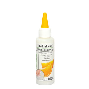 De'Lakrua, Гель для удаления кутикулы с ланолином и витамином С, 100мл