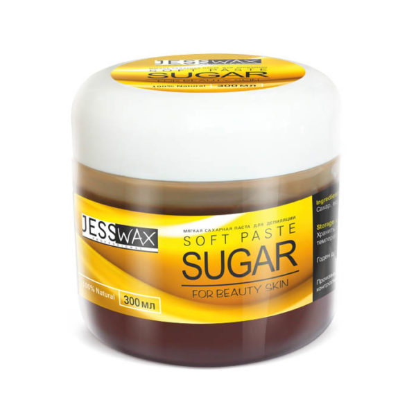 JessNail, Сахарная паста для депиляции 300г, мягкая