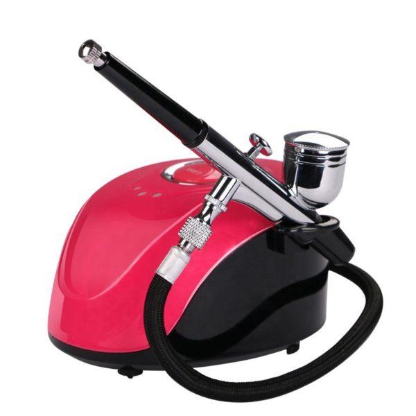 Mini Air Compressor, Аэрограф с компрессором, розовый