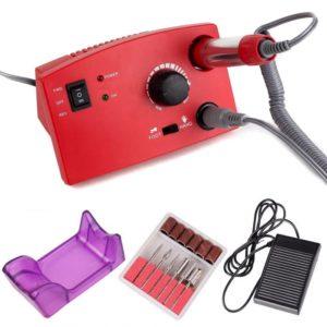 ZS-602, Аппарат для маникюра и педикюра 65W 35 000 об/мин, красная