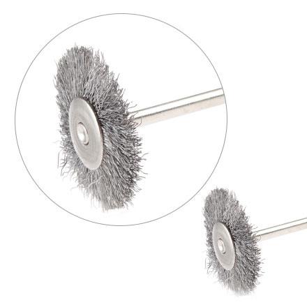 Насадка-щетка для фрез металлическая D=25мм, серебро