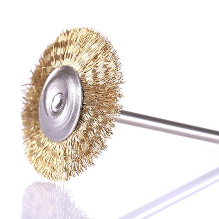 Насадка-щетка для фрез металлическая D=25мм, золото
