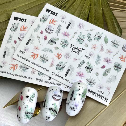 Fashion Nails, Слайдер дизайн White-101