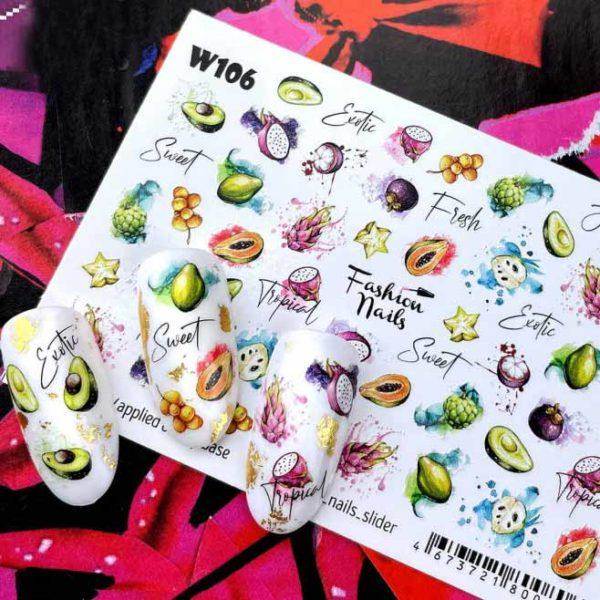 Fashion Nails, Слайдер дизайн White-106