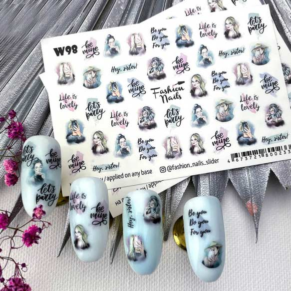 Fashion Nails, Слайдер дизайн White-98