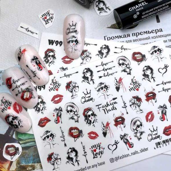 Fashion Nails, Слайдер дизайн White-99